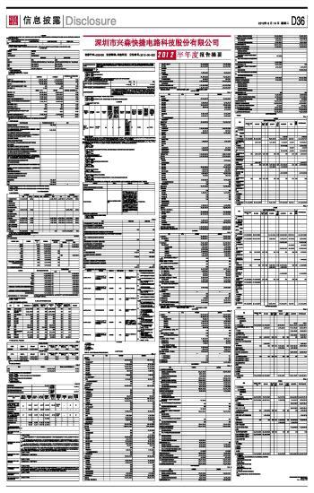 深圳市兴森快捷电路科技股份有限公司2012半年度报告