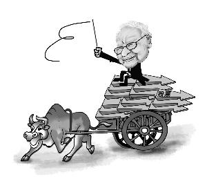 漫画:巴菲特史无前例回购自家漫画v漫画股票图片